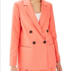Coral Oversized Topshop Blazer Size 4